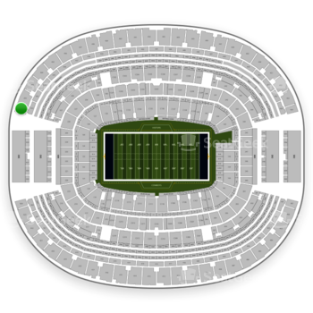 Dallas Cowboys at AT&T Stadium Section 431 View