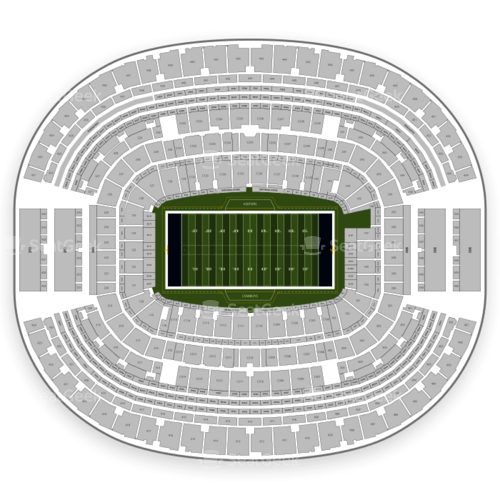 Att Stadium Seating Chart Map Seatgeek