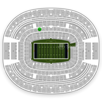Dallas Cowboys at AT&T Stadium Section C 232 View