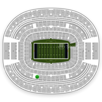 Dallas Cowboys at AT&T Stadium Section C 314 View