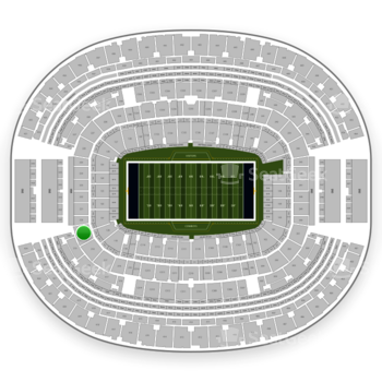 Dallas Cowboys at AT&T Stadium Section 219 View