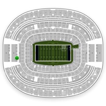 Dallas Cowboys at AT&T Stadium Section 322 View
