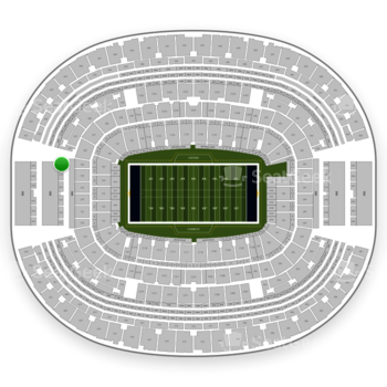Dallas Cowboys at AT&T Stadium Section 326 View