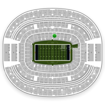 Dallas Cowboys at AT&T Stadium Section C 136 View