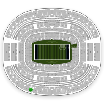Dallas Cowboys at AT&T Stadium Section 417 View
