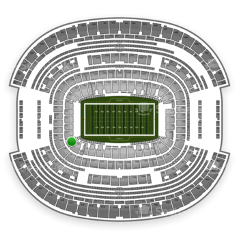 Dallas Cowboys at AT&T Stadium Section 120 View