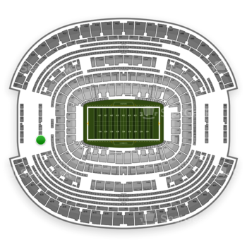 Dallas Cowboys at AT&T Stadium Section 321 View