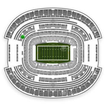 Dallas Cowboys at AT&T Stadium Section 327 View