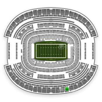 Dallas Cowboys at AT&T Stadium Section 409 View