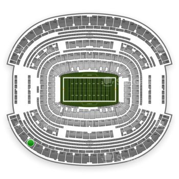 Dallas Cowboys at AT&T Stadium Section 420 View