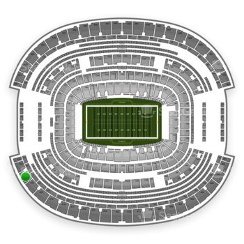 Dallas Cowboys at AT&T Stadium Section 422 View