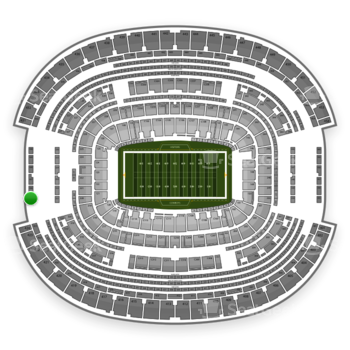 Dallas Cowboys at AT&T Stadium Section 425 View