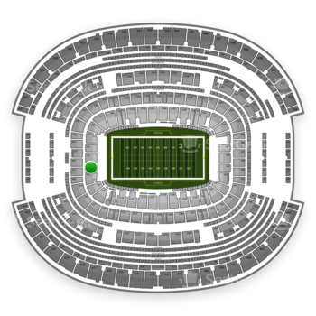 NFL at AT&T Stadium Section 122 View