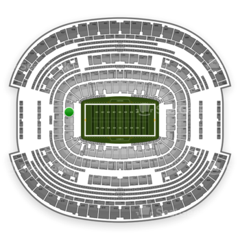 NFL at AT&T Stadium Section 124 View