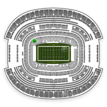 NFL at AT&T Stadium Section 127 View