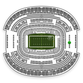 NFL at AT&T Stadium Section 348 View