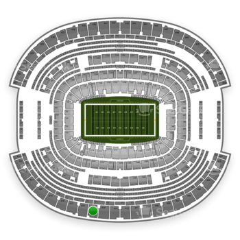 NFL at AT&T Stadium Section 415 View