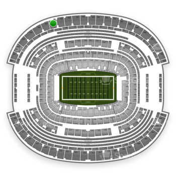 NFL at AT&T Stadium Section 438 View