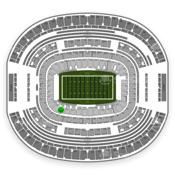 Dallas Cowboys at AT&T Stadium Section 118 View