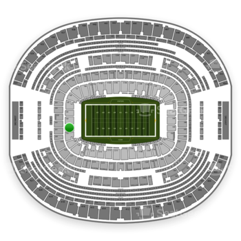 Dallas Cowboys at AT&T Stadium Section 122 View