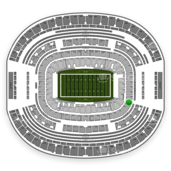 Dallas Cowboys at AT&T Stadium Section 201 View