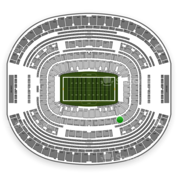 Dallas Cowboys at AT&T Stadium Section 204 View