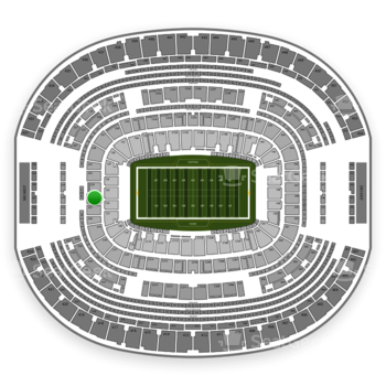 Dallas Cowboys at AT&T Stadium Section 222 View