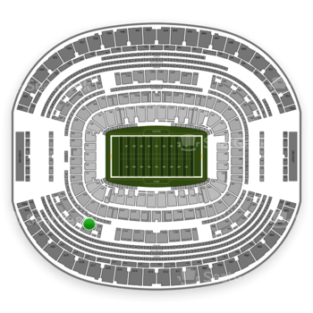 Dallas Cowboys at AT&T Stadium Section 317 View