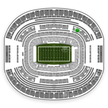 Dallas Cowboys at AT&T Stadium Section 342 View