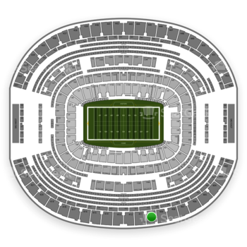 Dallas Cowboys at AT&T Stadium Section 410 View
