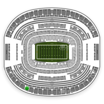 Dallas Cowboys at AT&T Stadium Section 418 View