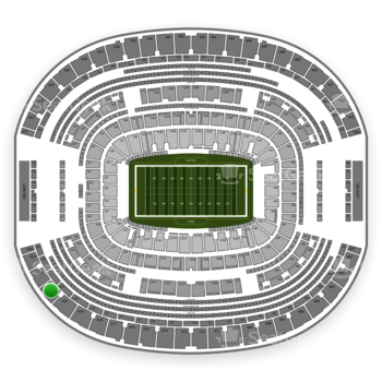 Dallas Cowboys at AT&T Stadium Section 421 View