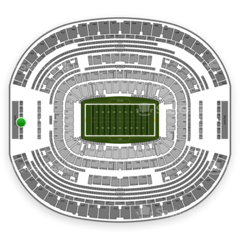 Dallas Cowboys at AT&T Stadium Section 427 View