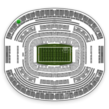 Dallas Cowboys at AT&T Stadium Section 435 View