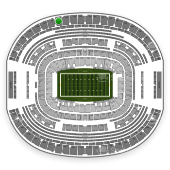Dallas Cowboys at AT&T Stadium Section 439 View