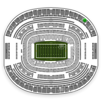 Dallas Cowboys at AT&T Stadium Section 450 View
