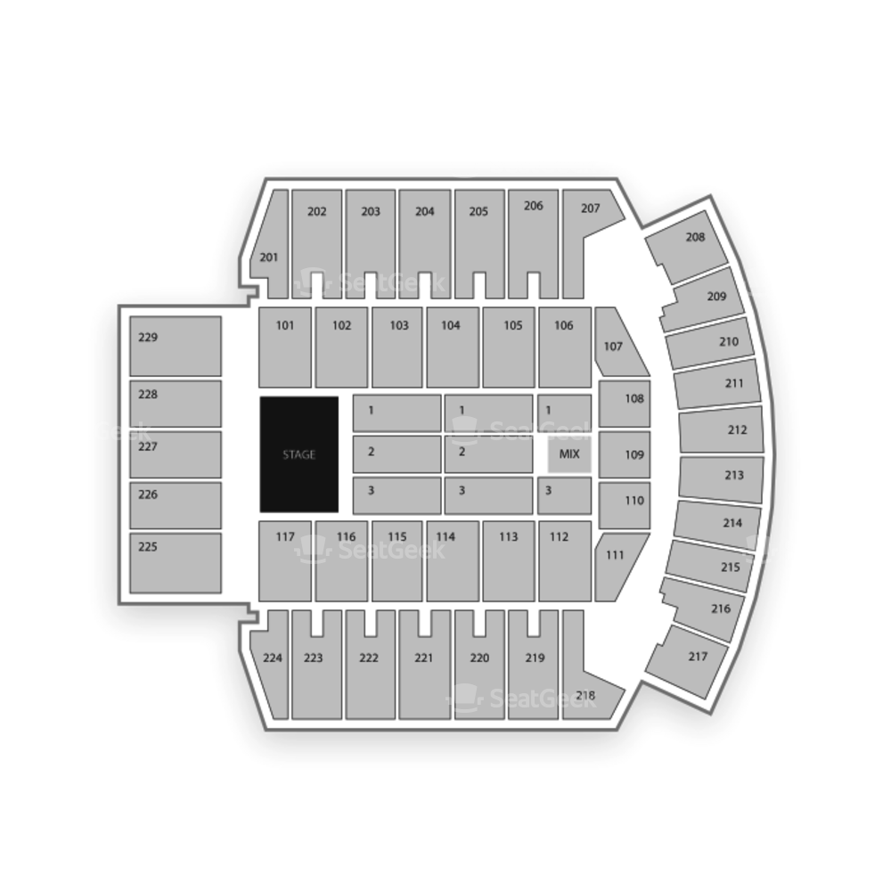 Bismarck Event Center Seating Chart Concert
