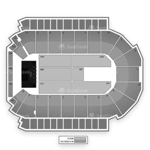 Budweiser Events Center Seating Chart