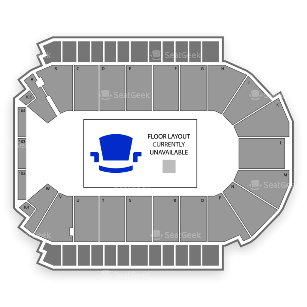 Budweiser events center seating chart interactive seat map