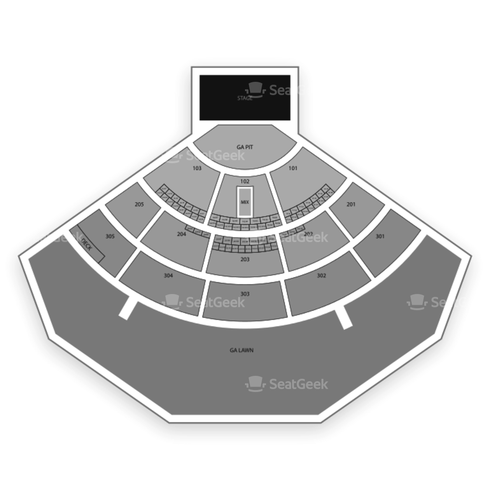 North Island Credit Union Amphitheatre Seating Chart Concert