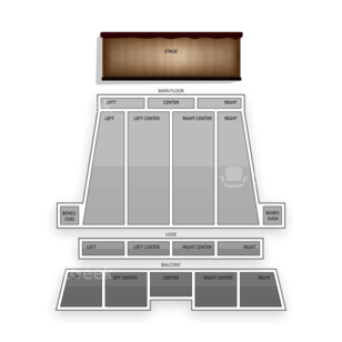 Stranahan Theater Seating Chart Comedy