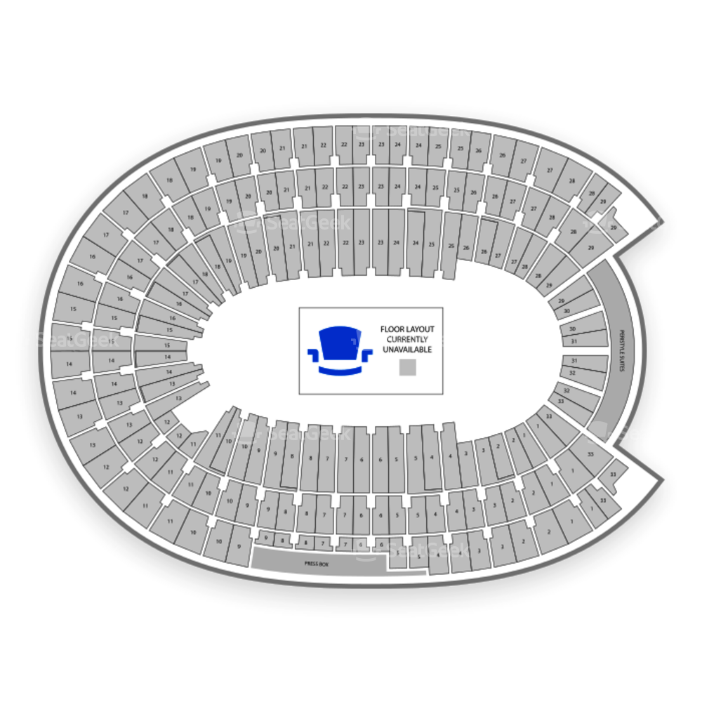 Los Angeles Memorial Coliseum Seating Chart Mlb Map Seatgeek
