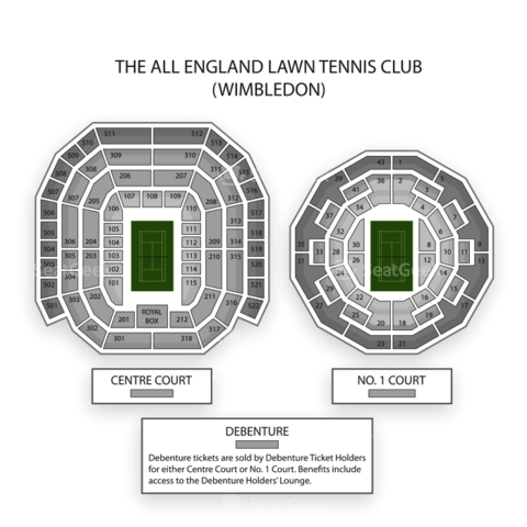 The All England Lawn Tennis Club seating chart Wimbledon