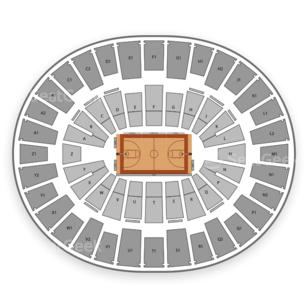 Arizona State Sun Devils Basketball Seating Chart