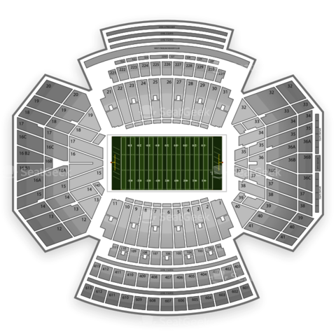 Memorial Stadium Nebraska seating chart Nebraska Cornhuskers Football