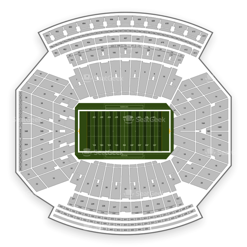 Nebraska Cornhuskers Football Seating Chart