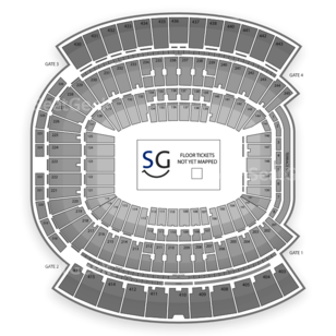 EverBank Field Seating Chart Music Festival