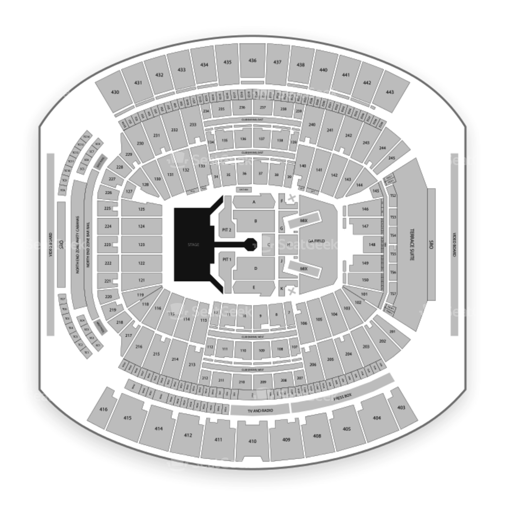 TIAA Bank Field Seating Chart Concert