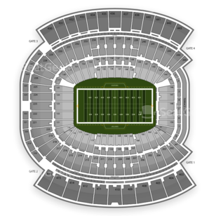 EverBank Field Seating Chart NCAA Football