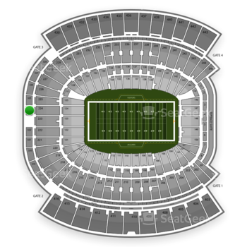 Jacksonville Jaguars at EverBank Field Section 324 View
